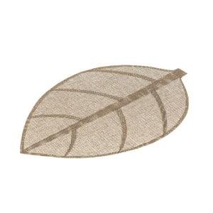 Hnědé prostírání ve tvaru listu Unimasa, 50 x 33 cm