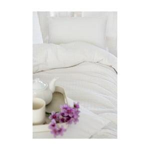 Bílá bavlněná přikrývka přes postel na dvoulůžko Pure, 200x240cm