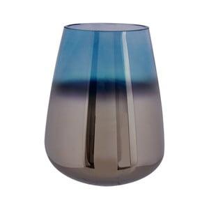 Modrá skleněná váza PT LIVING Oiled, výška 23 cm