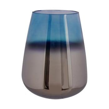 Vază din sticlă PT LIVING Oiled, înălțime 23 cm, albastru de la PT LIVING