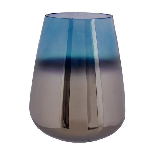 Modrá sklenená váza PT LIVING Oiled, výška 23 cm