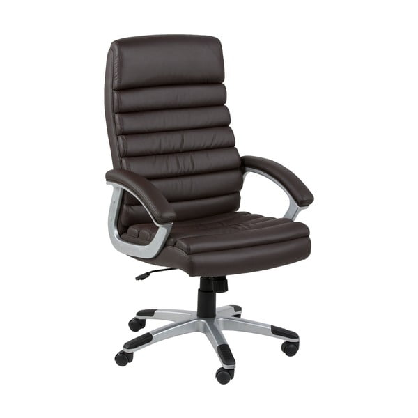 Hnědá kancelářská židle na kolečkách Actona Lyra