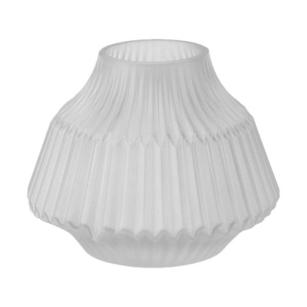Šedá skleněná váza PT LIVING, Ø 16 cm