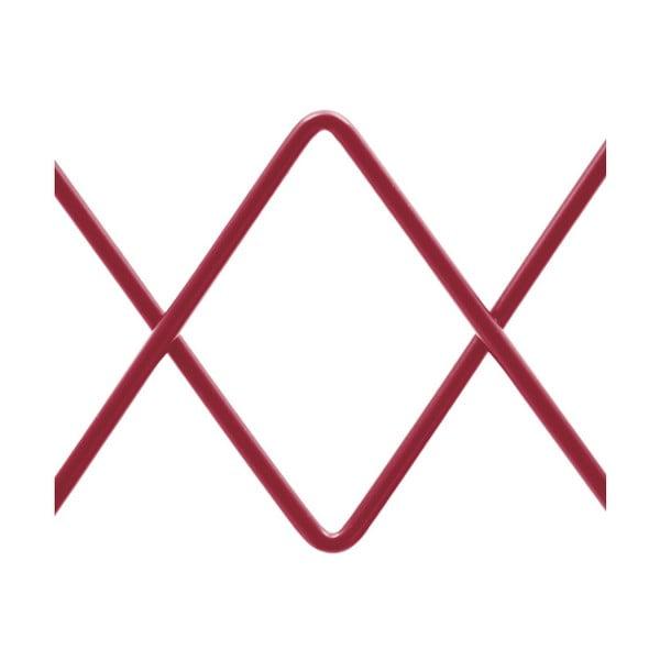 Červený nástěnný kovový systém na věšení kabátů HARTÔ Firmin