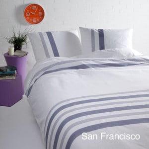 Povlečení na dvoulůžko z bavlněného saténu Ekkelboom San Francisco Blue, 240 x 200 cm