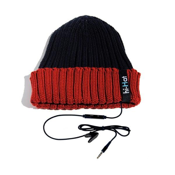 Hi-Hat Zimní čepice se sluchátky, modrá/červená