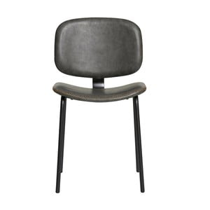 Sada 2 šedých jídelních židlí Marckeric Mali