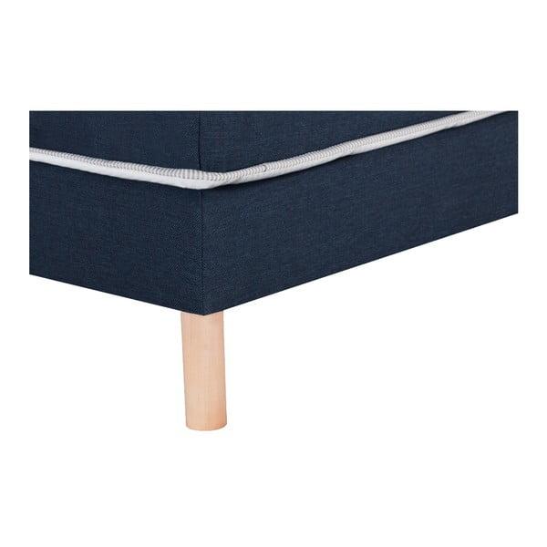 Tmavě modrá postel Stella Cadente Sommier, 90x200 cm