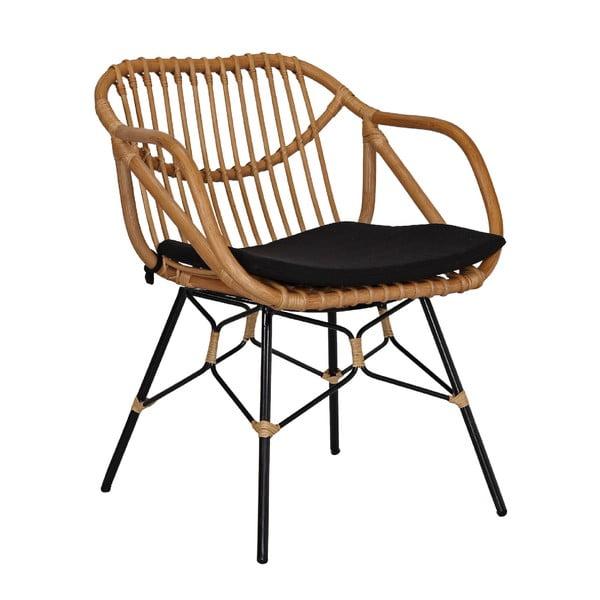 Krzesło rattanowe z podłokietnikami WOOX LIVING Ratta
