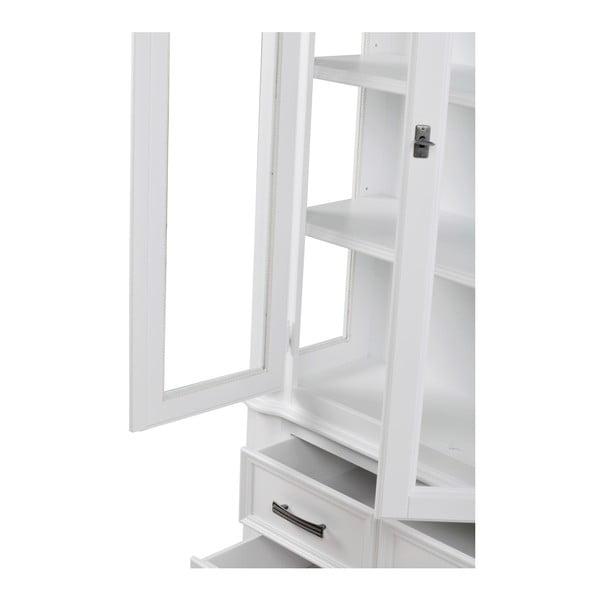 Bílá vitrína se 4 zásuvkami Folke Amadeus
