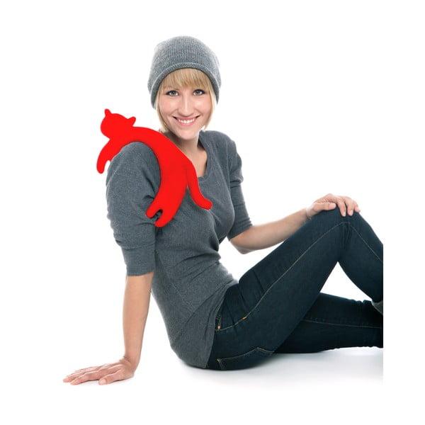 Nahřívací polštářek Kočka Minina, červený