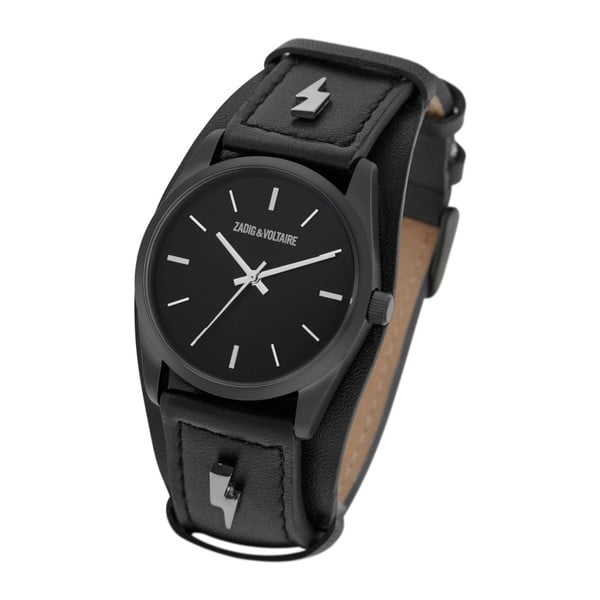 Černé pánské hodinky Zadig & Voltaire Thunderbolt