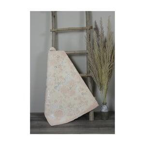 Světle růžová bavlněná koupelnová předložka My Home Plus Sensation, 60 x 90 cm