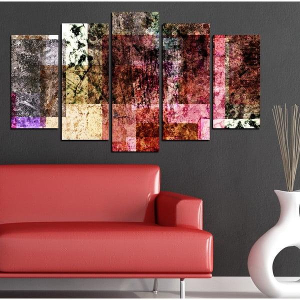 5dílný obraz Abstraktní vzorník