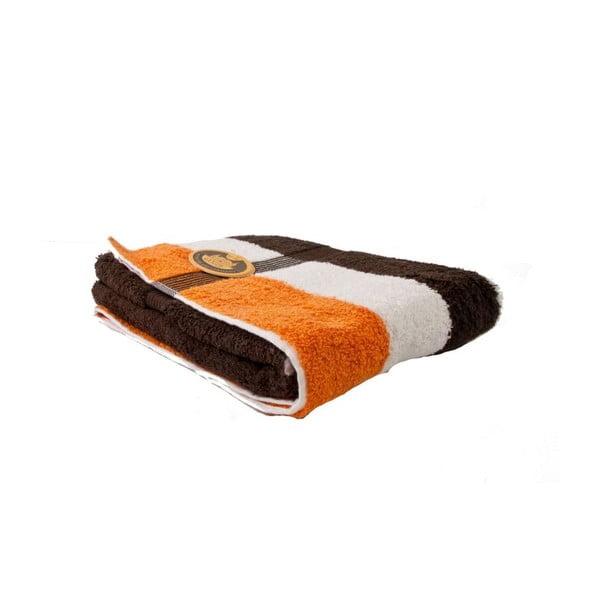 Ručník New York Strips Orange/White/Brown, 70x140 cm