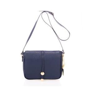 Tmavě modrá kabelka z pravé kůže Federica Bassi Prizzo