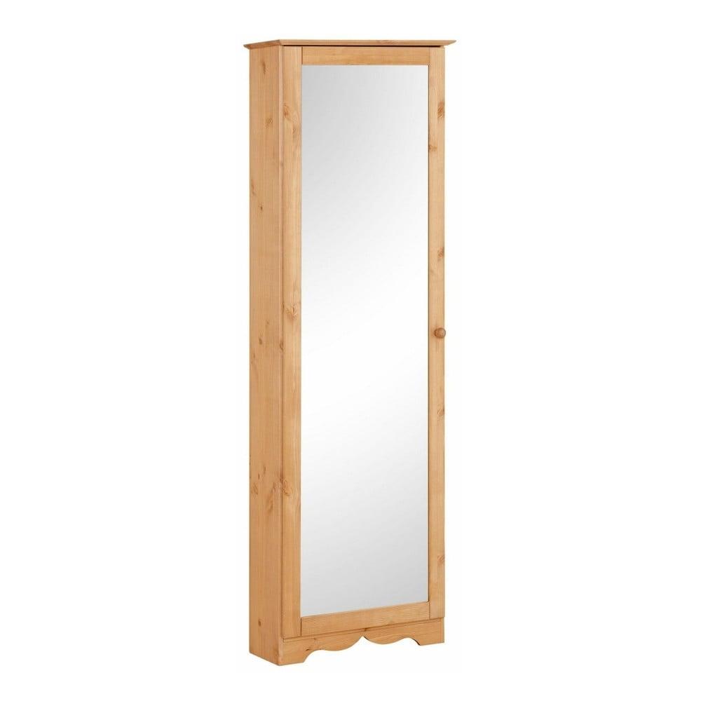 Botník z masivního borovicového dřeva se zrcadlem Støraa Amanda