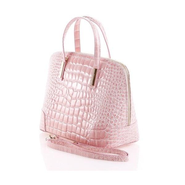 Kožená kabelka Jatany, růžová