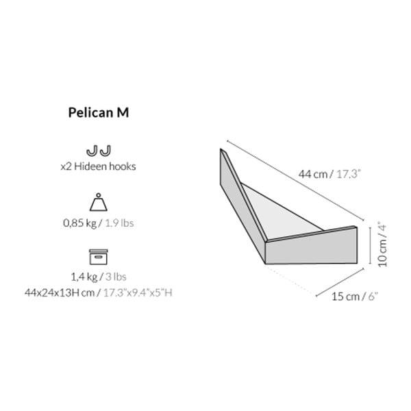 Sada 2 multifunkčních nástěnných organizérů Woodendot Pelican Walnut S+M