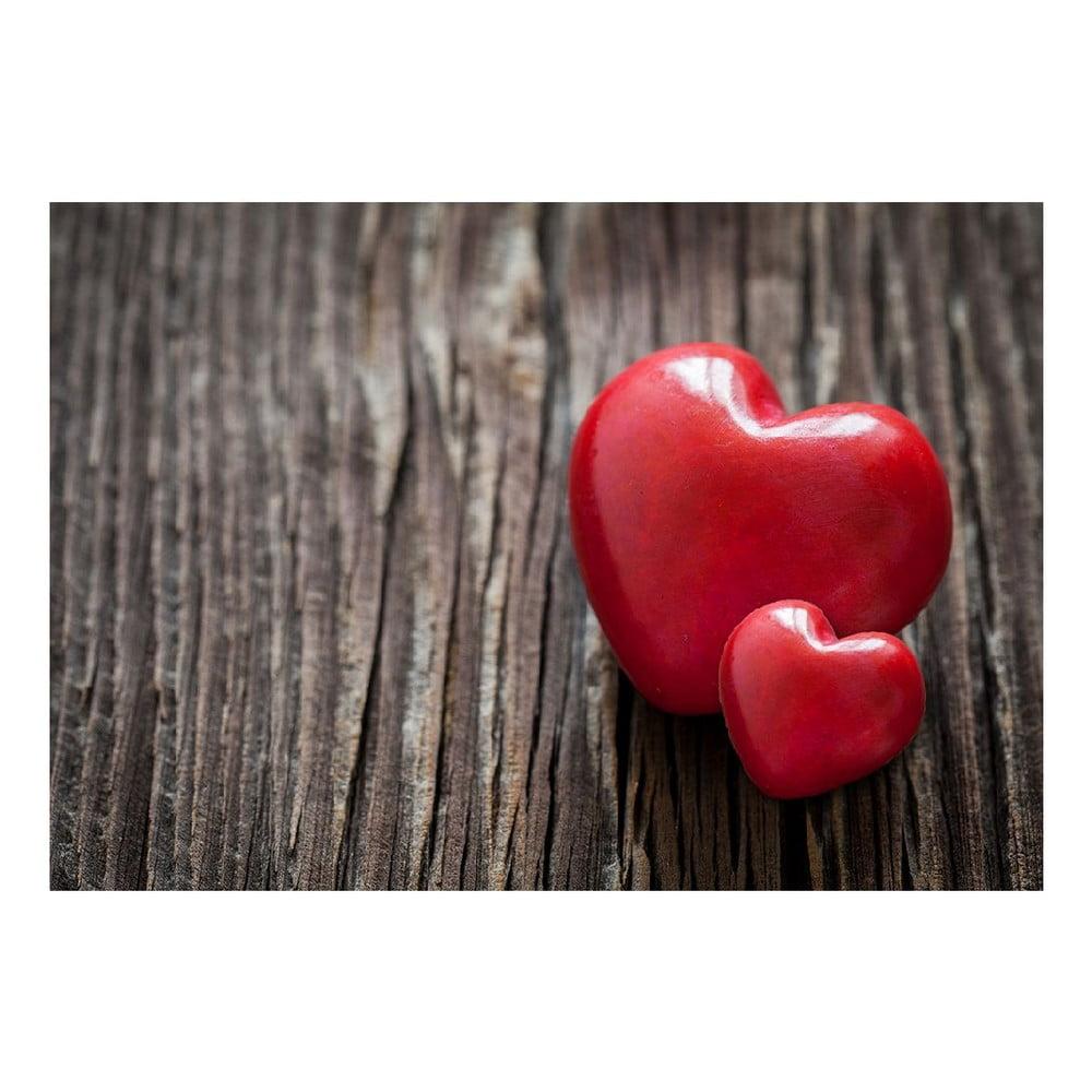 Vinylový koberec Hearts, 52x75 cm
