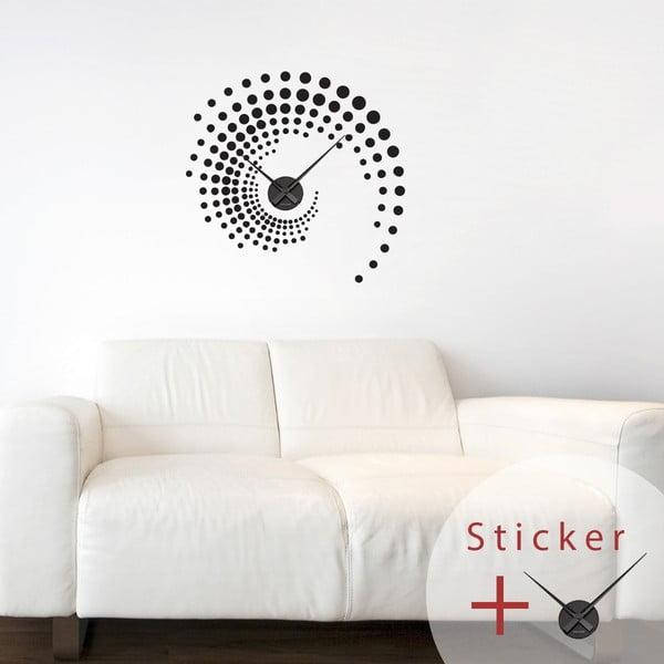 Samolepící hodiny Spiral, 55 cm