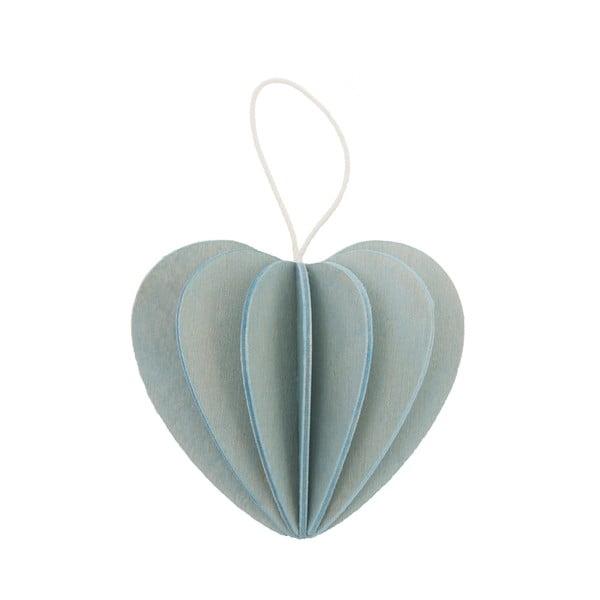 Skládací pohlednice Heart Light Blue, 6.8 cm