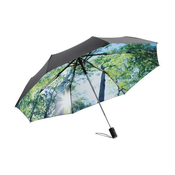 Umbrelă anti-vânt pliabilă Ambiance Forest, ⌀ 100 cm, verde-negru
