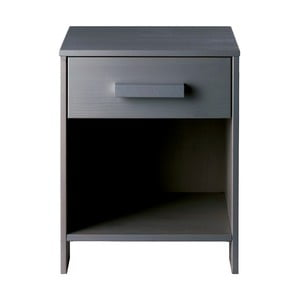 Noční stolek Dennis, ocelově šedý