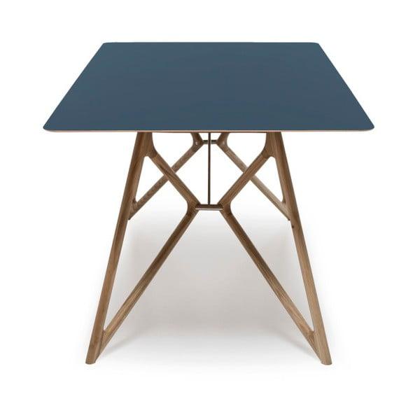 Dubový jídelní stůl Tink Linoleum Gazzda, 160cm, modrý
