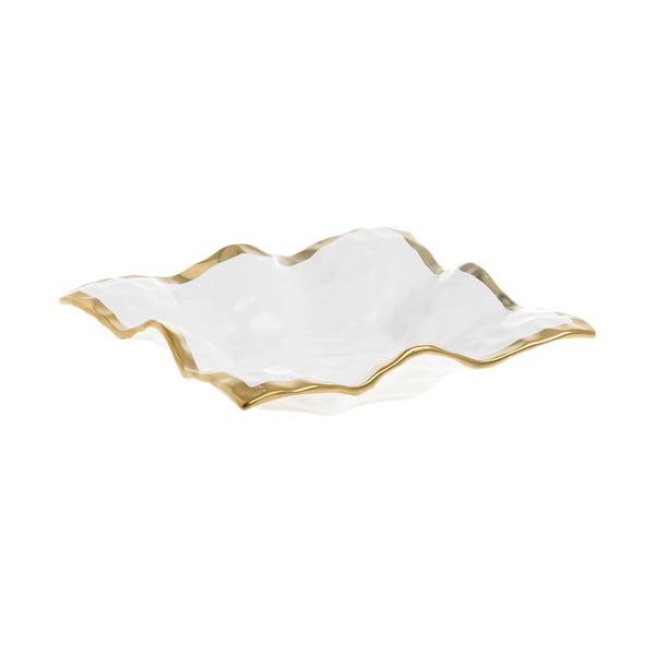 Bílá porcelánová servírovací miska InArt Softy, 19,5x19,5cm