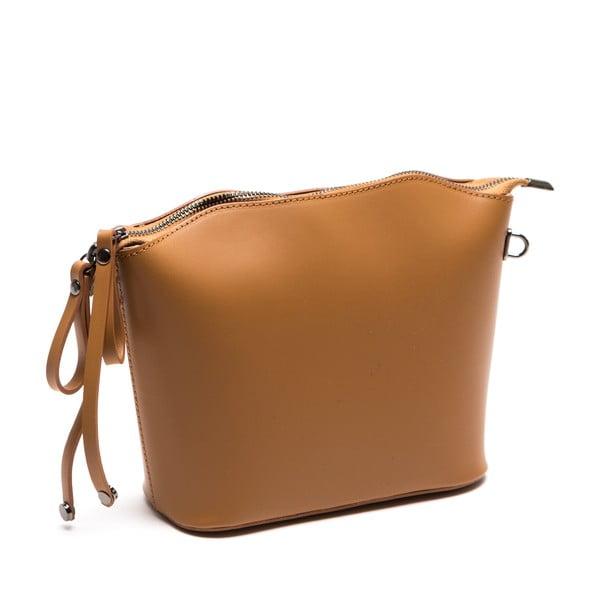Kožená kabelka Gloria, koňak
