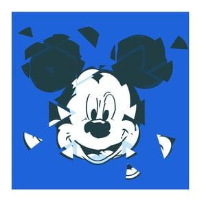 Obraz Pyramid International Mickey Mouse Broken Blue, 40 x 40 cm