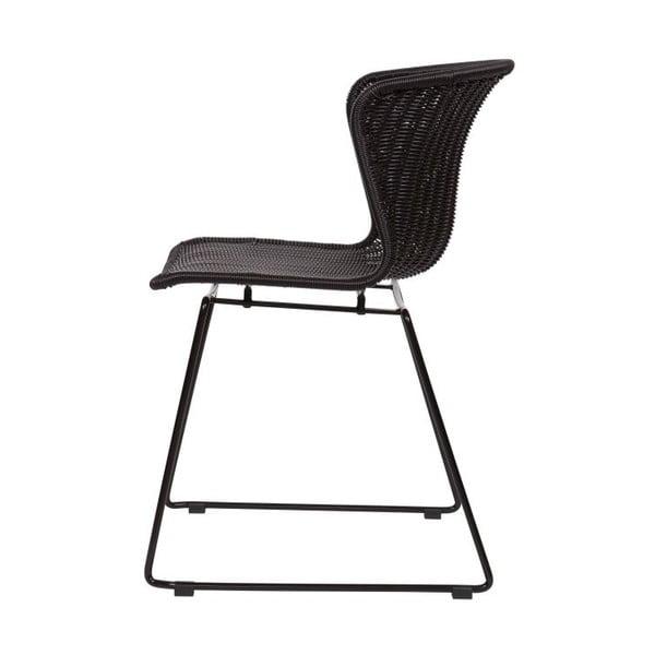 Sada 2 černých židlí Wings Black