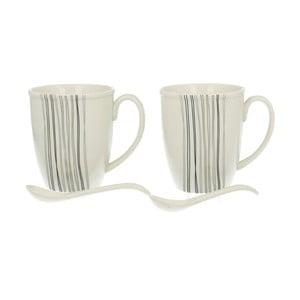 Set 2 porcelánových hrnků Silver Line