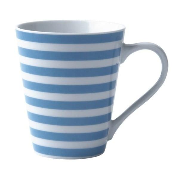 Porcelánový hrnek Striped Turquoise