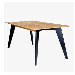 Jídelní stůl s černými nohami Radis Huh Oak, délka150 cm