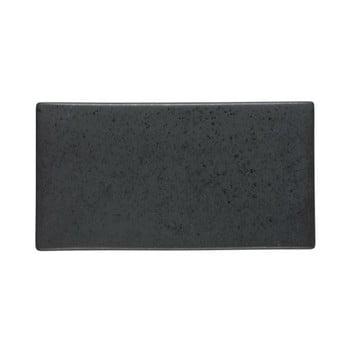 Platou din ceramică Bitz Mensa, lungime 30 cm, negru