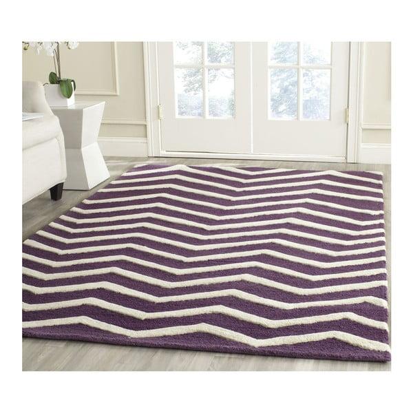 Vlněný koberec Edie Purple, 182x274 cm