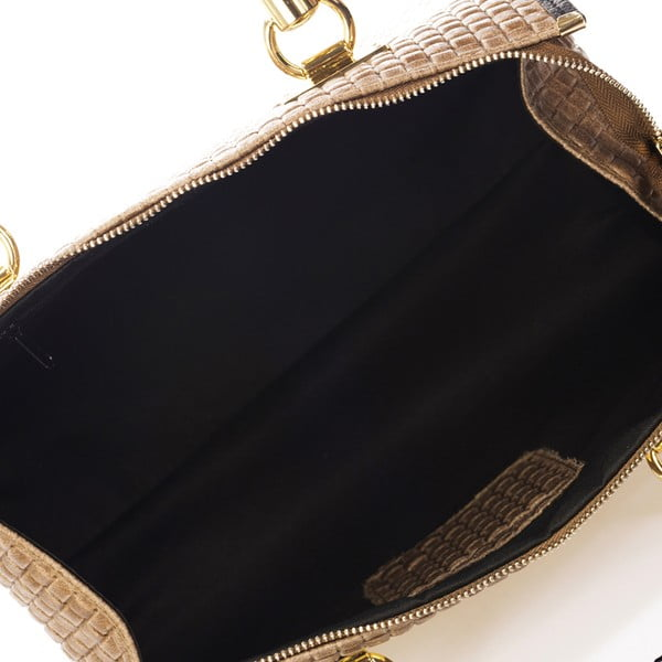 Béžová kožená kabelka Giulia Massari Act