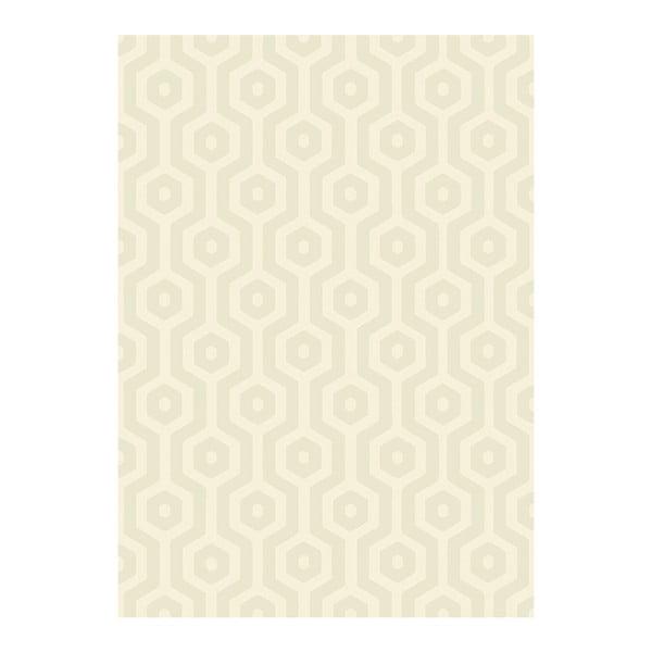 Koberec Asiatic Carpets Echo Geo Cream, 120x170 cm