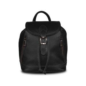 Černý batoh z pravé kůže JOHN FISH Lar