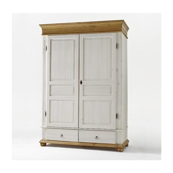 Dulap cu două uși din lemn de pin OB Harald, alb