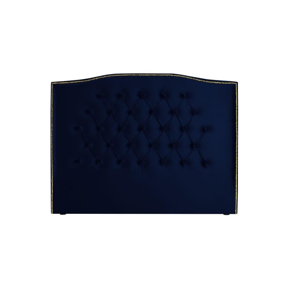Námořnicky modré čelo postele Mazzini Sofas Daisy, 140 x 120 cm Mazzini Sofas