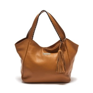 Hnědá kožená kabelka Isabella Rhea Passiflora