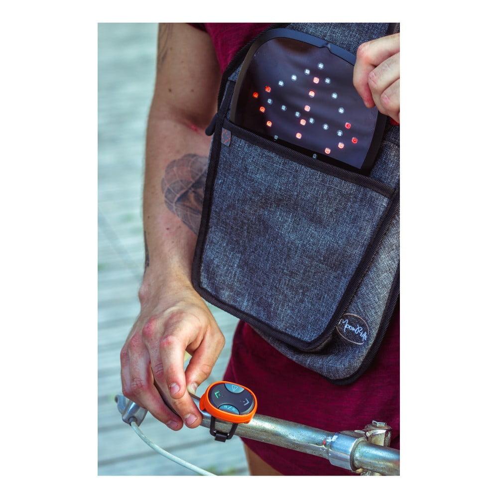 4e8f82f8168 ... Cyklistický batoh přes rameno se signálovým LED značením MoonRide ...