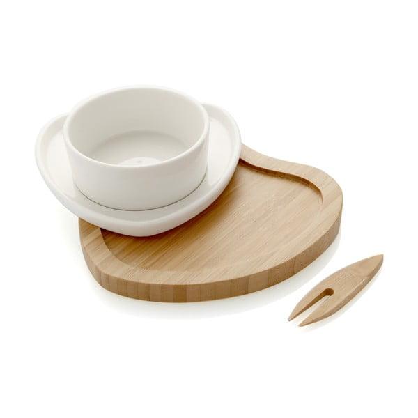 Servírovací miska s bambusovým podnosem a napichovátkem Brandani Ciur