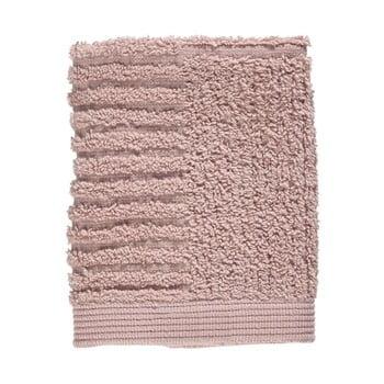 Prosop din bumbac 100% pentru față Zone Classic, 30 x 30 cm, roz deschis imagine