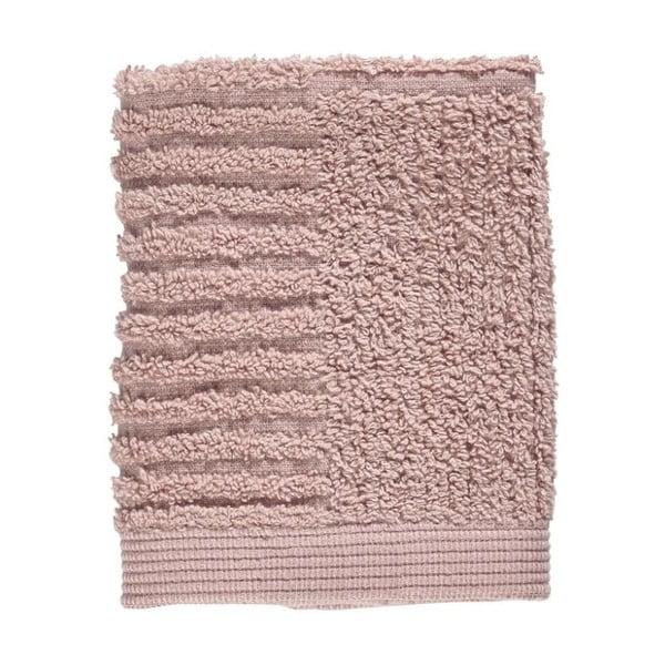 Světe růžový ručník ze 100% bavlny na obličej Zone Classic, 30x30cm