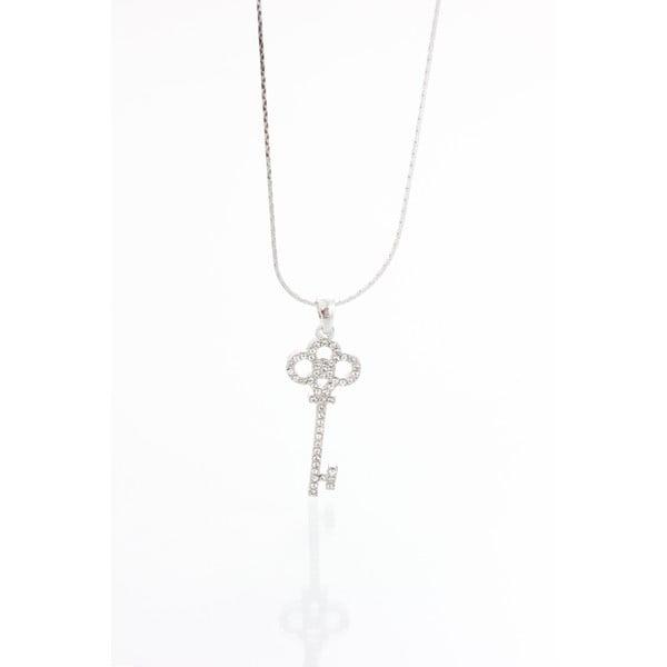 Key ezüstszínű nyaklánc Swarovski Elements kristályokkal - Laura Bruni