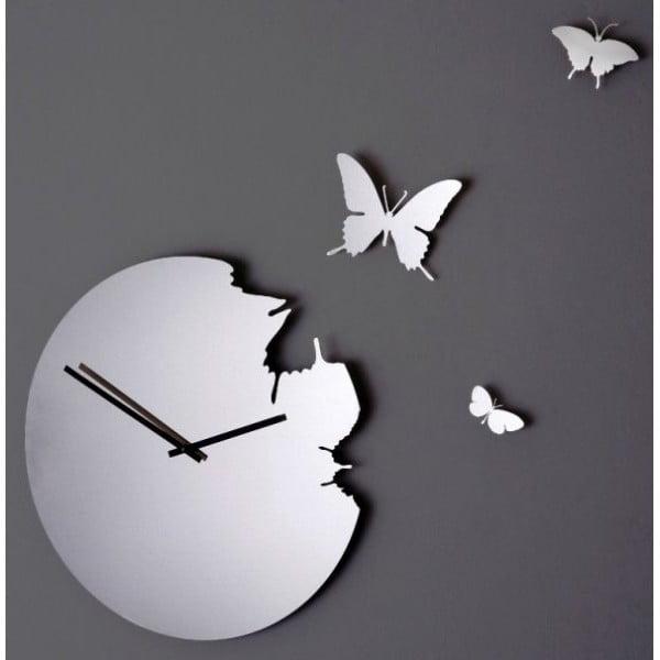 Designové hodiny Butterfly Super Mirror, 48 cm